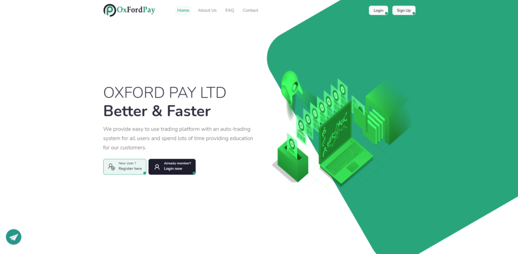 oxfordpay scam home page