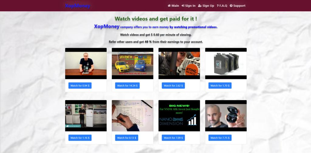 xopmoney scam home page