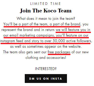 kocolabel scam fake collaboration