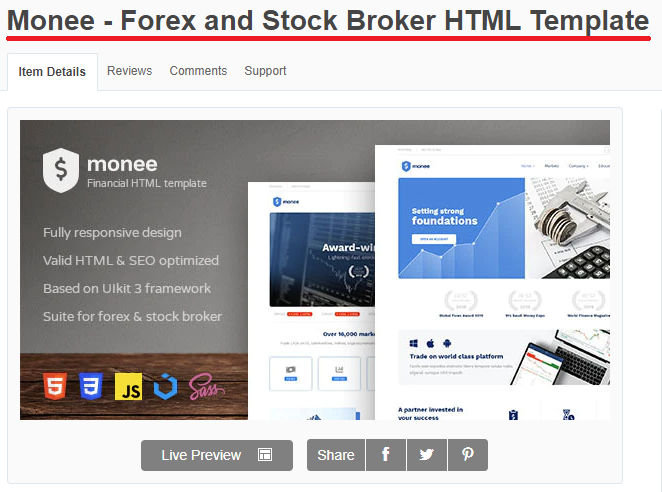 monee forex template
