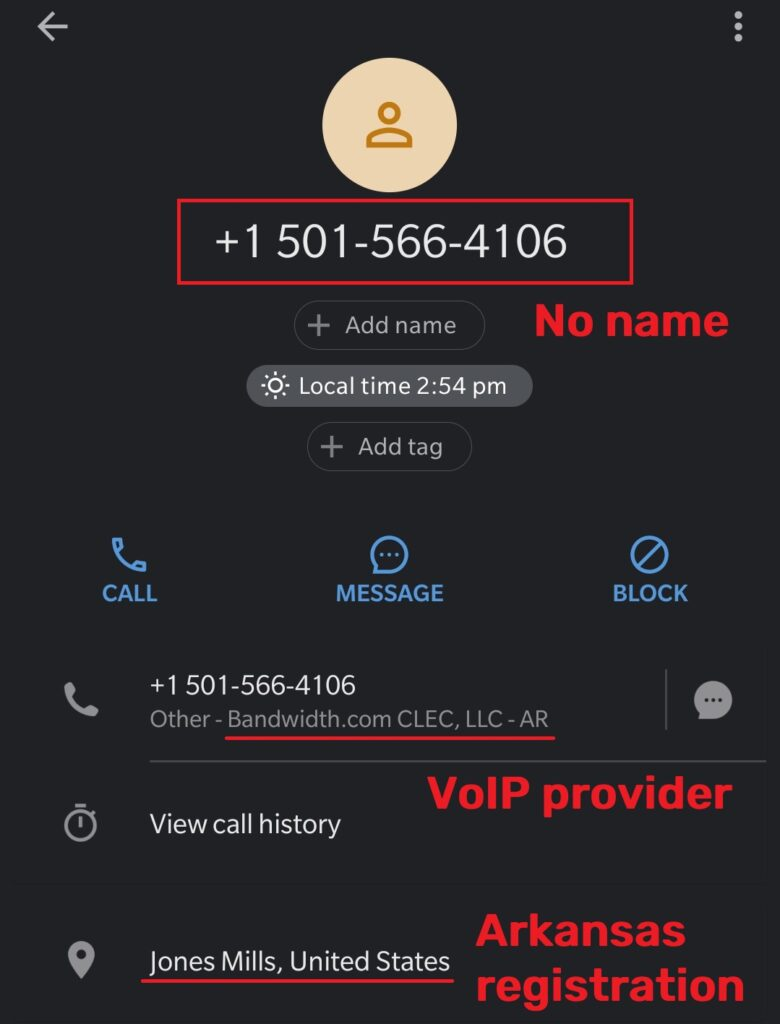 Ecomsecuretech scam fake phone number