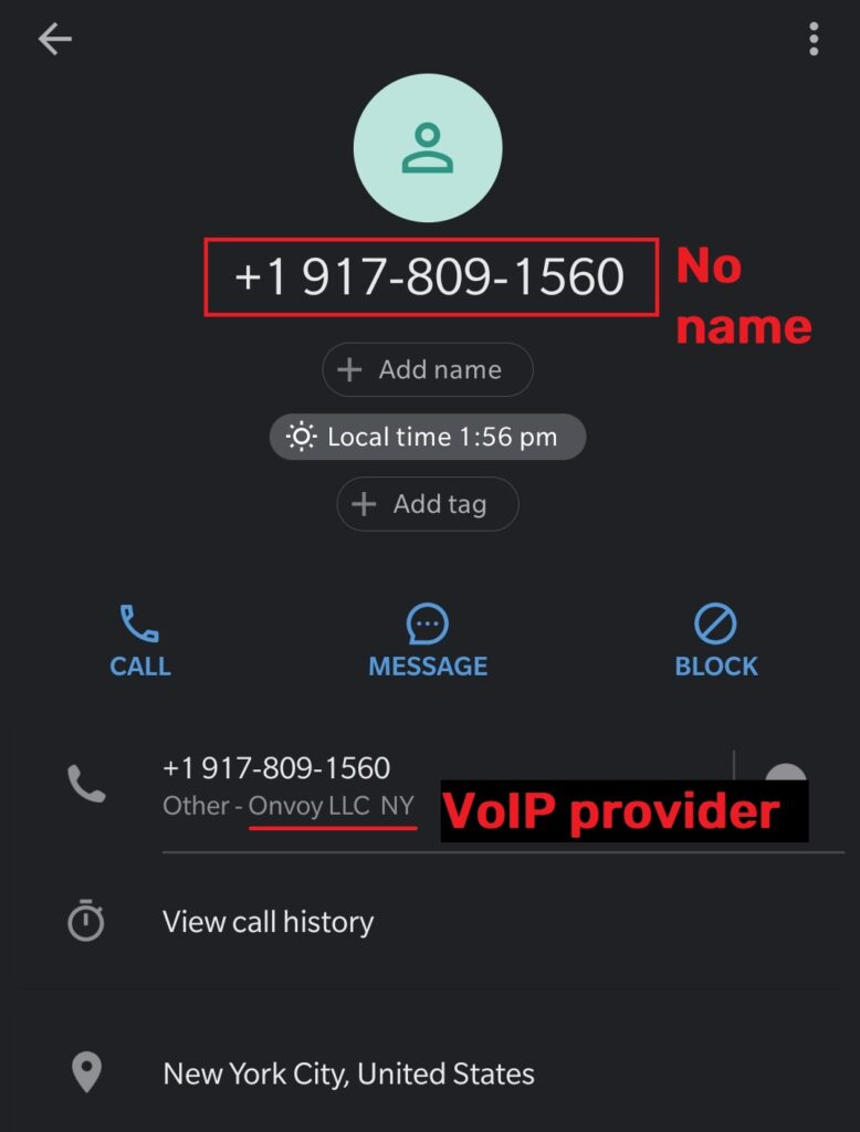 alphawide tech scam virtual phone number