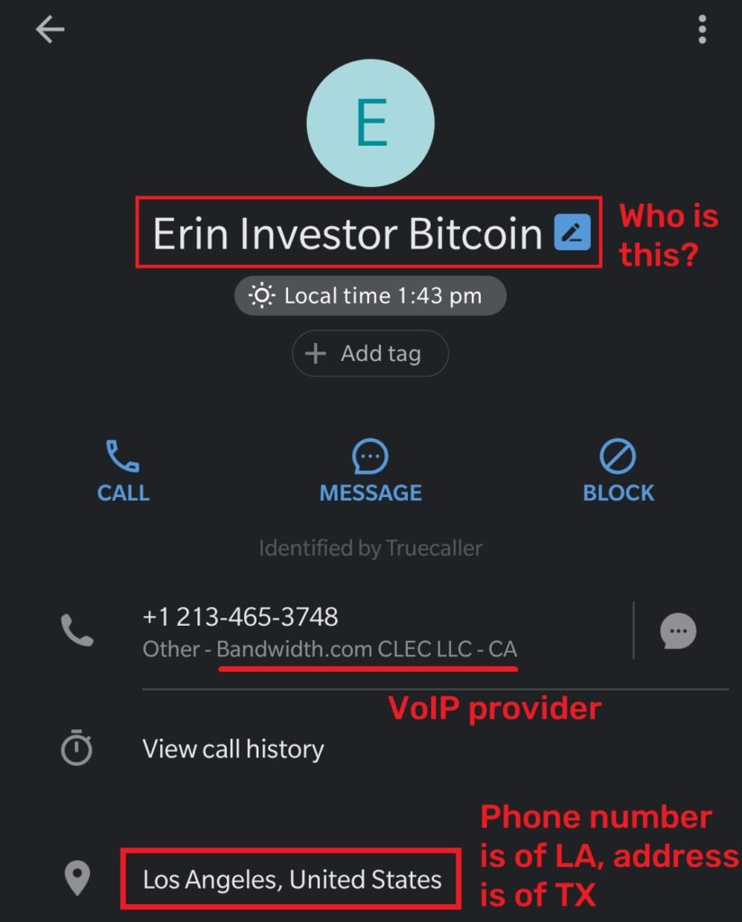 fastearn scam fake phone number