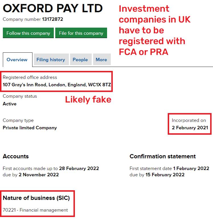 oxfordpay scam uk registration