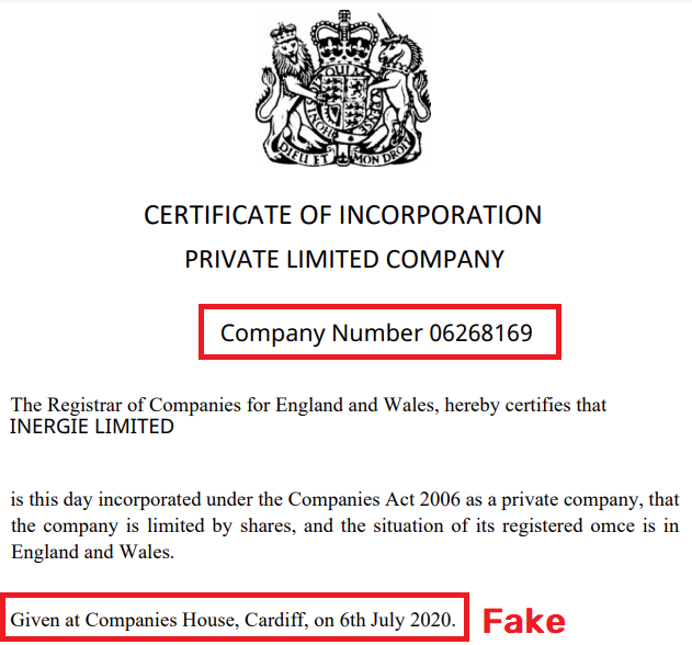 inergie scam fake uk registration 1