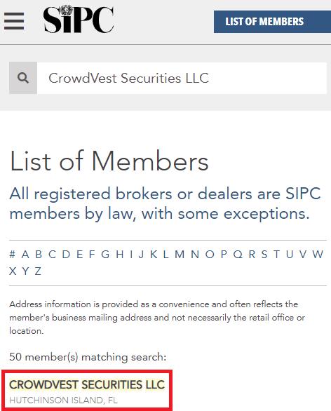 crowdvest llc registration