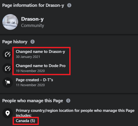 drasony scam facebook page details