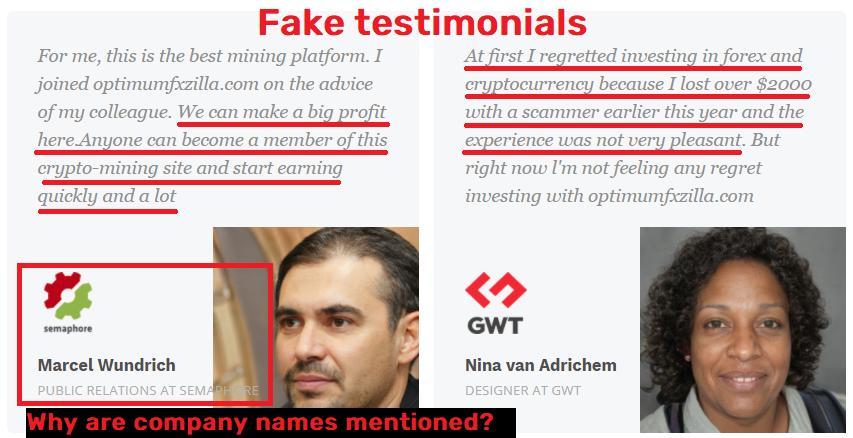 OptimumFXZilla scam fake testimonial 1