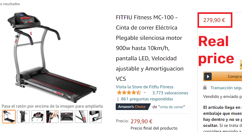 amazon real treadmill price