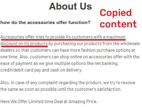fmelastore scam copied content 1