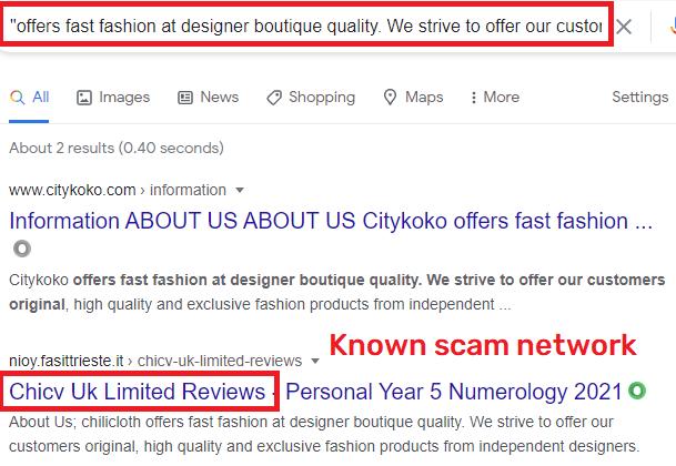citykoko scam relation to chicv scam network
