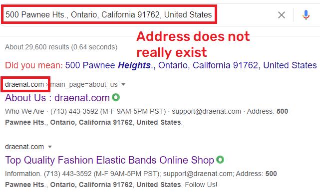 draenat scam fake address