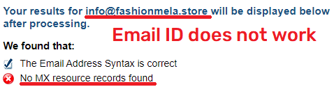 fmelastore scam fake email ID