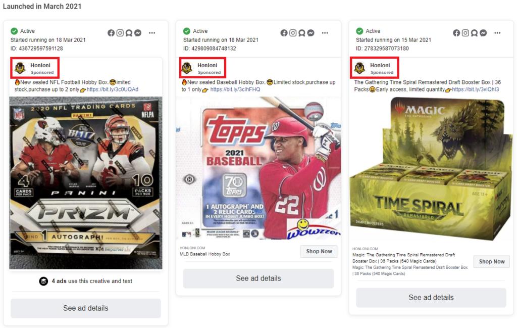 honloni scam facebook ads