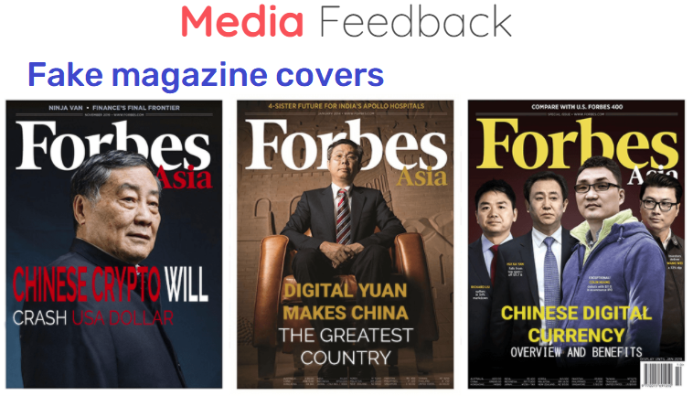 Yuanpaygroup scam fake forbes asia cover