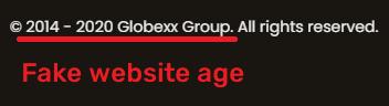 globexx scam fake website age