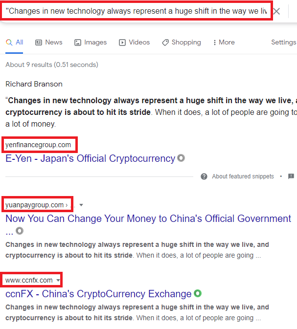 Yuanpaygroup scam fake quotes 2