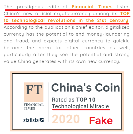 Yuanpaygroup scam fake financial times article