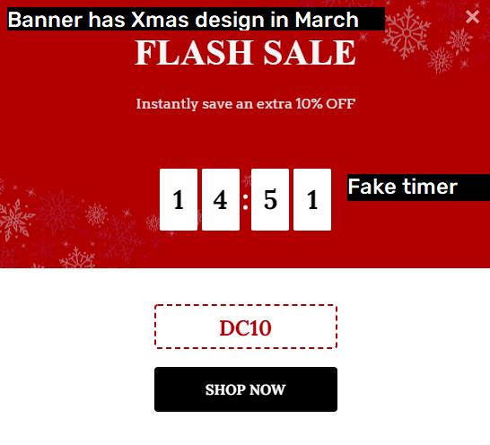 pumacraft scam fake flash sale banner