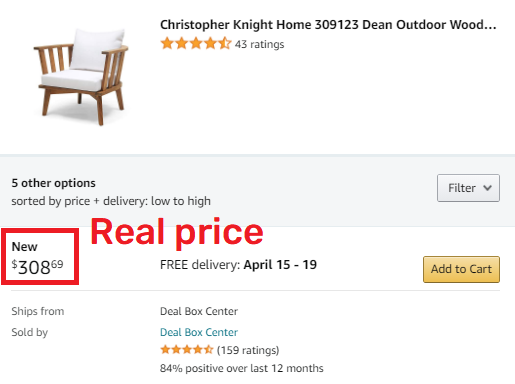 amazon chair real price