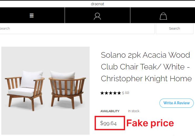 draenat scam chair fake price