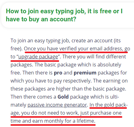 easy typing job scam free package 1