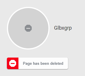 glbxgrp deleted facebook page