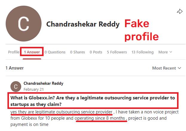 globexx scam fake quora answer 1