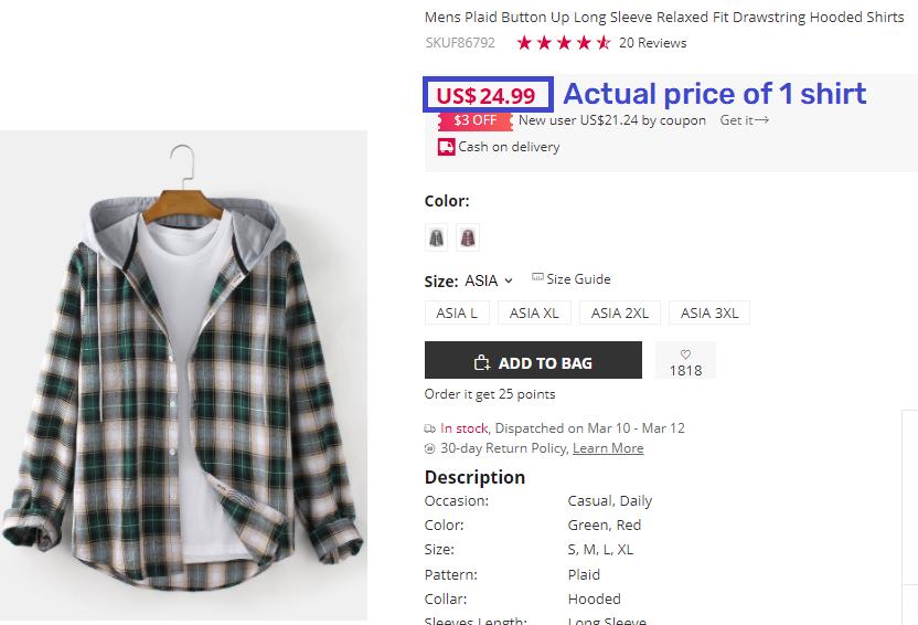 newchic real shirt price