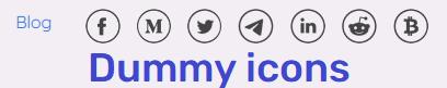fake social media icons