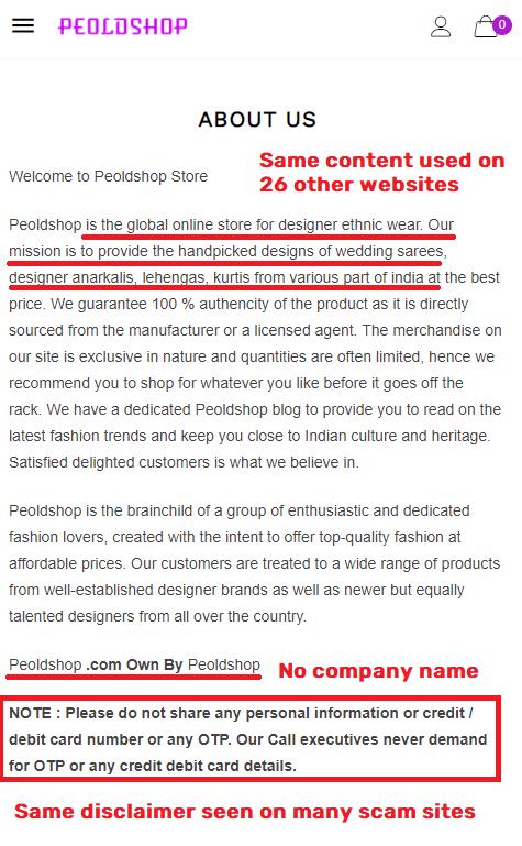 peoldshop scam about us