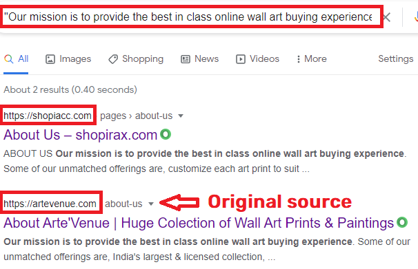 globalbagbox scam about us page copied content 2