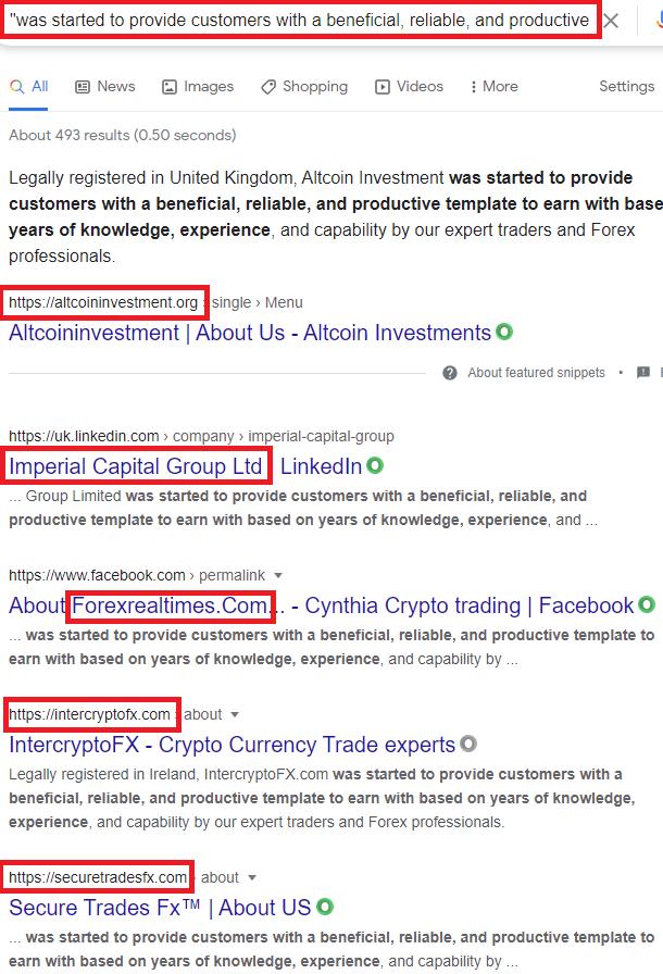 cramtrade scam copied content