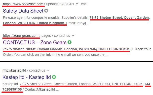 zone-gears scam fake address 2