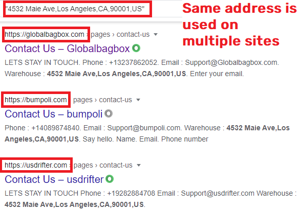 globalbagbox scam fake address