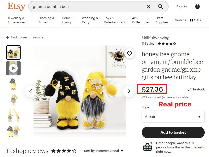 plush gnomes real price etsy