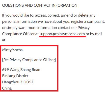 mintymocha scam chinese address