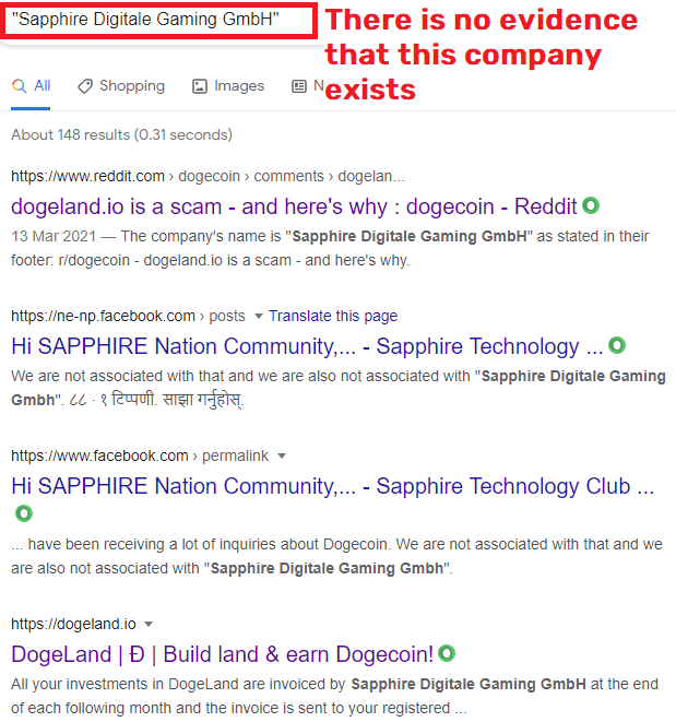 dogeland scam sapphire digitale 2