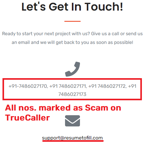 resumetofill scam contact details