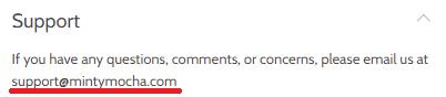 mintymocha scam email ID