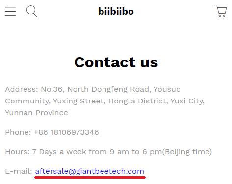 giant beetech scam biibiibo contact us