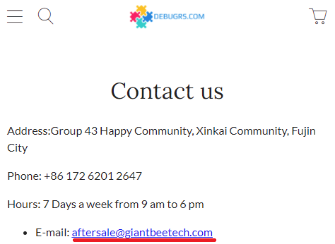 giant beetech scam debugrs contact us