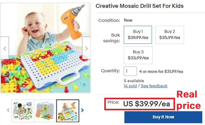 mosaic drill real price