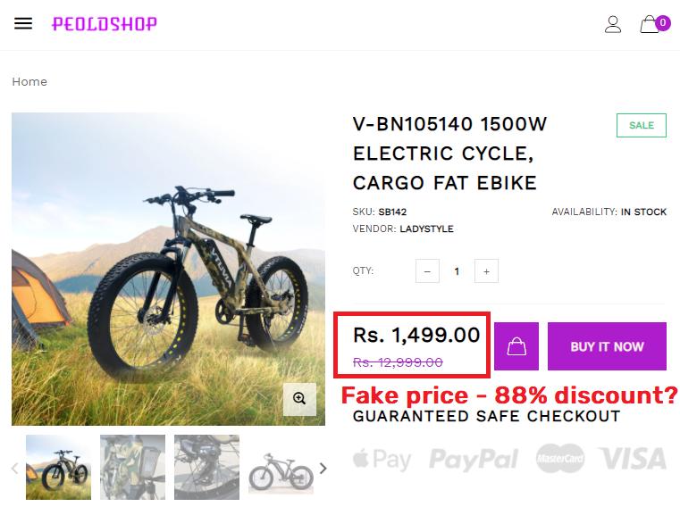 peoldshop scam vtuvia cycle fake price