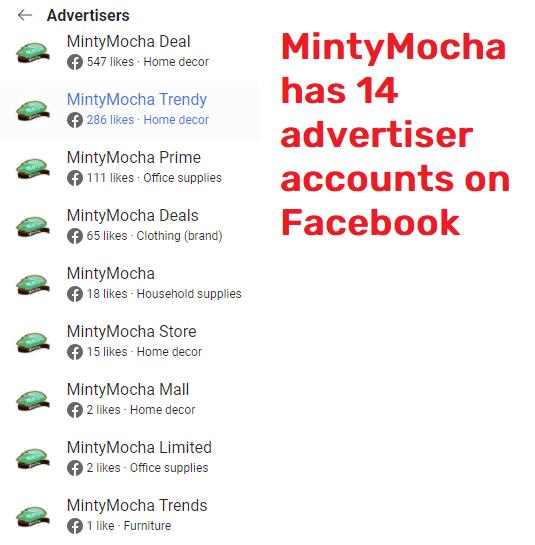 mintymocha scam facebook advertising 1