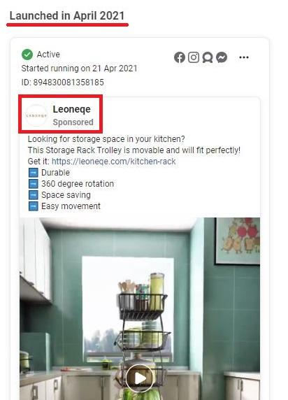 leoneqe scam facebook ad