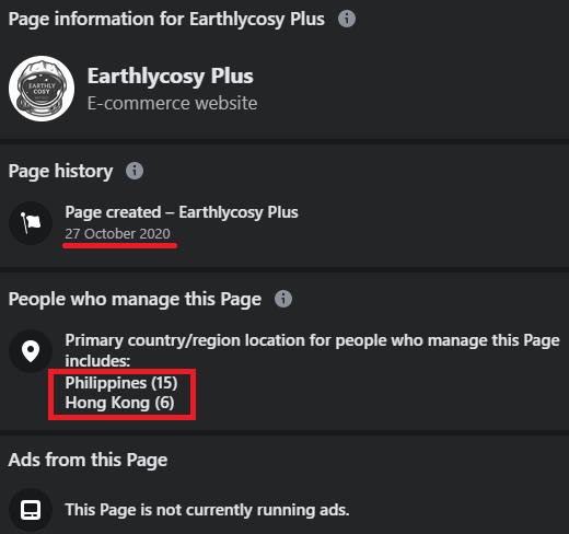 earthlycosy plus facebook page