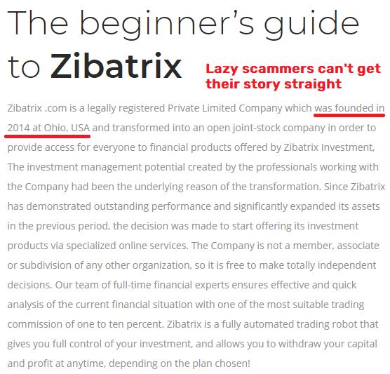 zibatrix scam fake company age 2