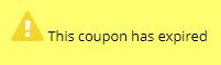 this coupon has expired