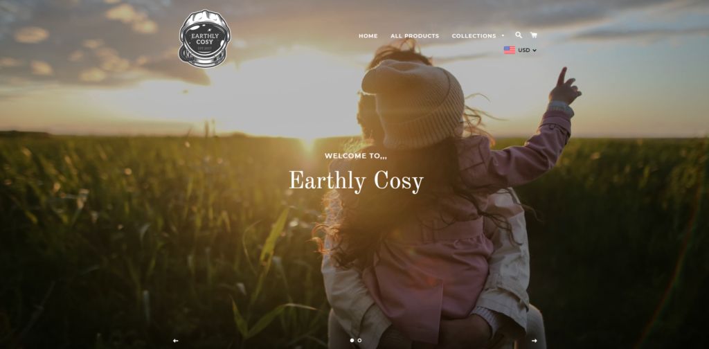 earthlycosy scam home page